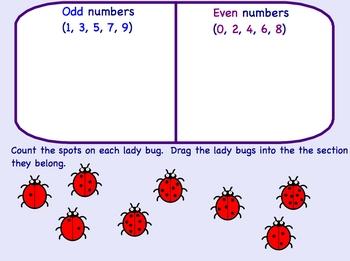 Smartboard Odd Even Numbers Math Lesson