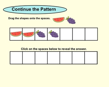 Smartboard Patterning for Kinder