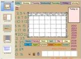 Smartboard Perpetual Calendar At Their Fingertips...