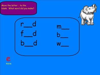 Vowels: Vowel E (Smartboard)
