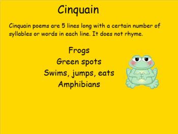 Smartboard Poetry Cinquain. Introduction