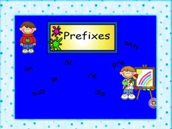 Smartboard Prefixes Activity