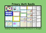 Smartboard Primary Math Bundle: Graphs, Missing Number, Geometry, Printables