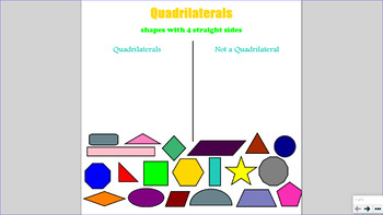 Smartboard Quadrilaterals Sort