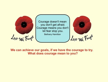 Smartboard:  Remembrance Day Activities (Junior)