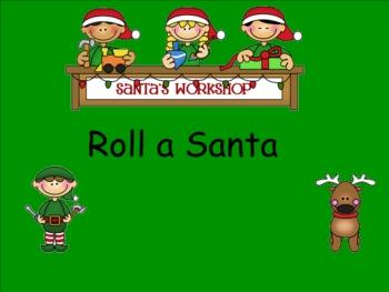 Smartboard Roll a Santa Center Activity