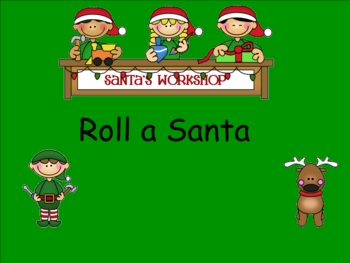 Smartboard Roll a Santa Center or Group Activity