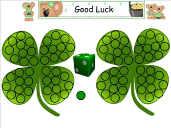 Smartboard Roll a Shamrock  Center Activity