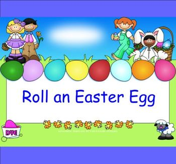 Smartboard Roll an Easter Egg Center or Group Activity
