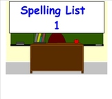 First Grade Saxon Phonics Spelling Lists 1-25 for Smartboard