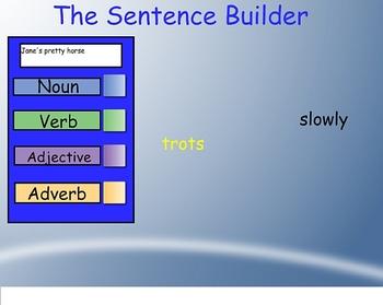 Smartboard Sentence Builder