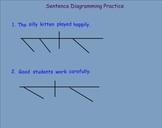 Smartboard Sentence Diagramming Exercises