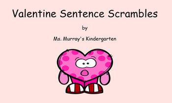 Smartboard Sentence Scrambles