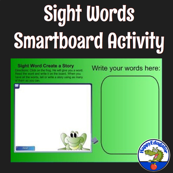 Sight Words Create a Story Smartboard Activity