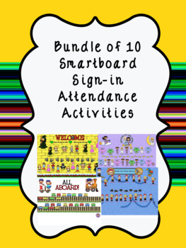 Smartboard Sign- in Attendance 10 Themes