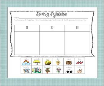 Smartboard Spring Syllable Match Up