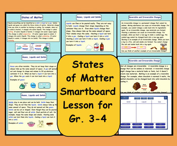 Chemistry interactive whiteboard resources lesson plans teachers smartboard states of matter solids liquids gases urtaz Choice Image