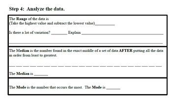 Smartboard Statistical Investigation:  Line Plot, Median, Mode & Range with M&Ms