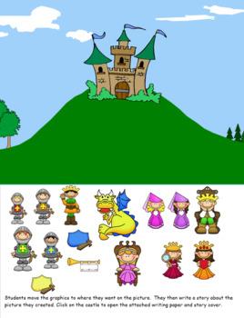 Smartboard Story Writing Activity Castle Theme
