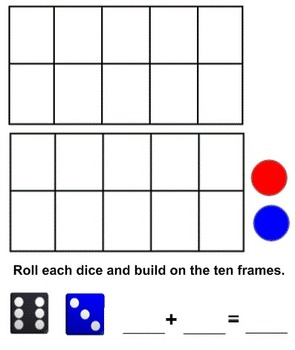 Smartboard: Tens Frame Addition