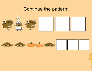 Smartboard:  Thanksgiving Primary Activities (sorting, patterning, addition)