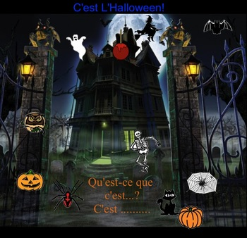 Smartboard:  6 French Halloween Interactive Activities (includes sound)