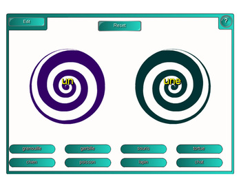 Smartboard:  Un or Une vortex game