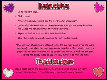 Smartboard Valentine's Day Student Chooser