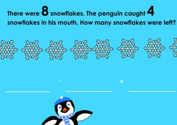 Winter Subtraction Word Problems Flipchart