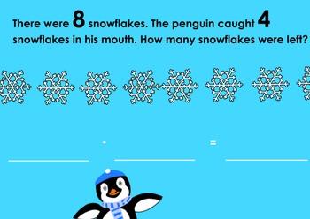 Winter Subtraction Word Problems Flipchart