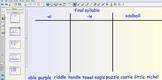 Smartboard Word Sorts - final syllable -le & -el