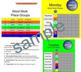 Smartboard Word Work Center Rotation Schedule