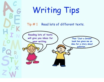 Smartboard:  Writing Tips