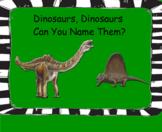 Smartboard and Worksheet Dinosaur Activities