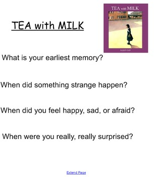 "Smartboard for Allen Say's ""TEA with MILK"""