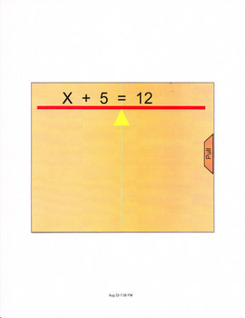 Smartboard lesson for 1 step equations.