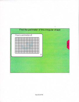 Smartboard lesson for the perimeter of irregular shapes