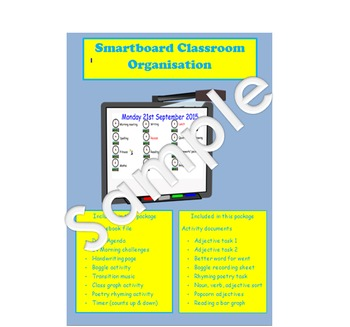 Smartboard organisation and additional activities