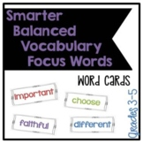 Smarter Balanced Grades 3-5 Elementary School Vocabulary F