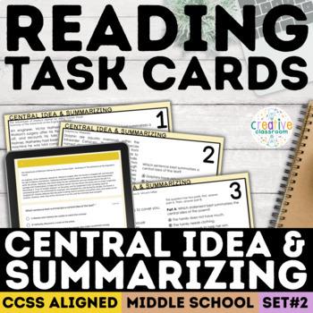 Smarter Balanced Main Idea Task Cards