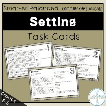 Smarter Balance Setting Task Cards