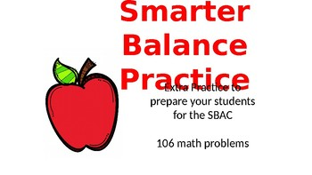 Smarter Balance Test Math Practice and Prepartation