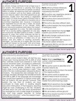 Author's Purpose Task Cards (SBAC)