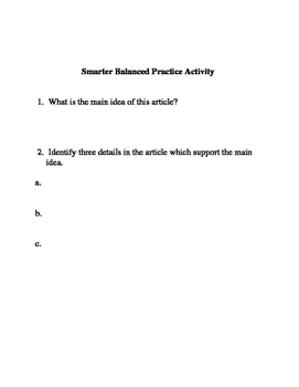 Smarter Balanced ELA Practice:  What is a Swamp?