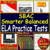 Smarter Balanced ELA Test Prep and Games (SBAC) Printable AND Google Paperless