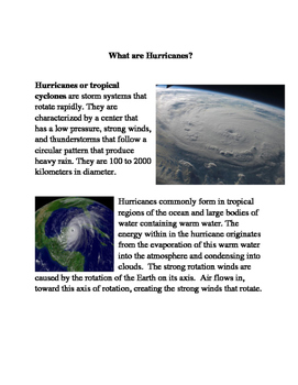 Smarter Balanced Practice: What are Hurricanes?