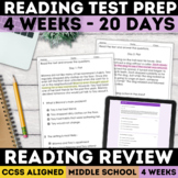 SBAC Reading Review   Comprehension   PDF & Digital   Dist