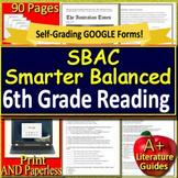 6th Grade Smarter Balanced Test Prep - SBAC Practice Reading Assessments ELA
