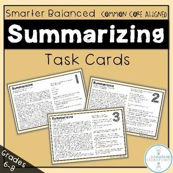 Smarter Balanced Summarizing Task Cards