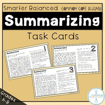 Smarter Balanced Summarizing Task Cards
